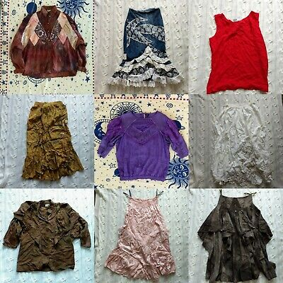 20 x Vintage Wholesale Job Lot Womens Clothing Hippie Skirt Blouse Dresses 70s
