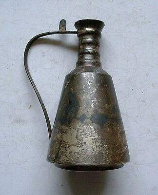 Antique19c.? Extremely Rare Silver (Islamic - Arabic ?) Pot. Decorative Scene.
