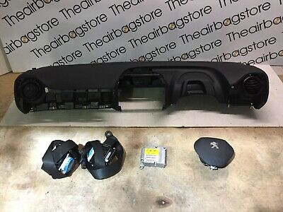 PEUGEOT 108 2015-On AIRBAG KIT DRIVER PASSENGER DASHBOARD 2 X SEATBELTS MODULE