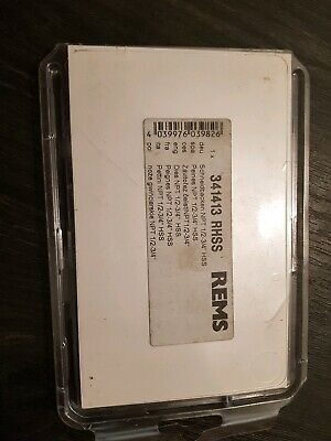 "rems pipe thread dies NPT 1/2 -3/4"" HSS"