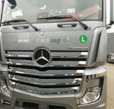 Front Grill aus Edelstahl  Mercedes Benz MP4 14 Teile Front Grill