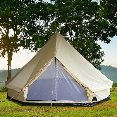 Outsunny 16.4' Teepee Bell Tent Large Family Tent in All Seasons Beige