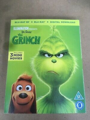 Dr Seuss: The Grinch- Bluray3D+ Bluray+ Digital Download. New Sealed Plus Sleeve