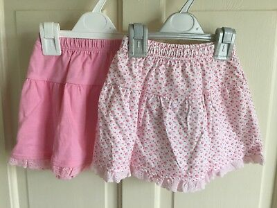 BNWOT Mothercare Sample Skirts x 2. Girls. Age 6-9 Months. Pink / Patterned