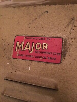 vintage Stage/ Theatre Light. Made By Major. Robust Metal Retro Lamp.