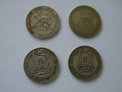 1911 - 1936 George V Silver Shilling - Choose Your Date