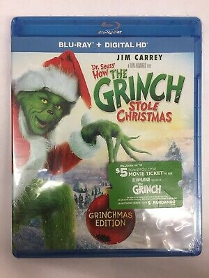 Dr. Seuss' How the Grinch Stole Christmas (Blu-ray + Digital HD)*New*