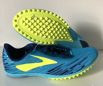 57838e84afa Brooks Mach 18 Spikeless Size 8 Track Shoes Methyl Blue 1102381D453 NEW!