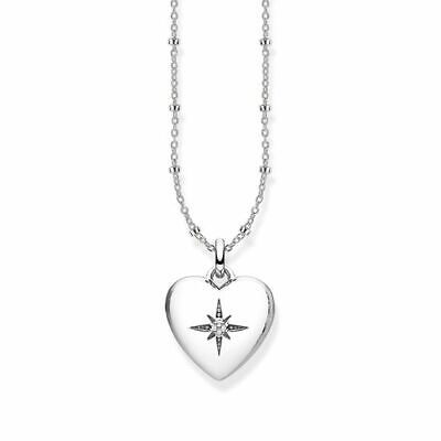 Thomas Sabo Sterling Silver Heart Locket Necklace - diamond stone