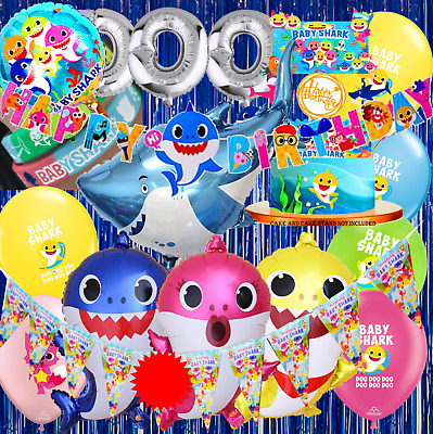 10pc BABY SHARK LOOT BOX CANDY Party Supplies BALLOON DECORATION CAKE CUPCAKE