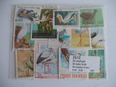 Stamps Birds Water : 50 Stamps All Different / Stamps Birds