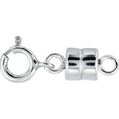 NEW SOLID .925 Sterling Silver Barrel Magnetic Converter Necklace Clasp
