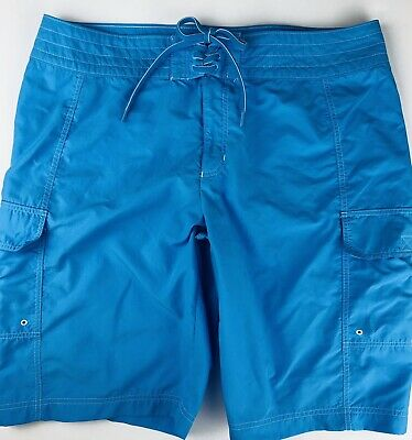 12e59594f893 Lands End Womens Swim Shorts Board Surf Bottoms Size 6 Nylon Cargo Bathing  Suit