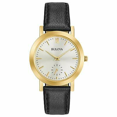 Women's Stainless Steel Analog-Quartz Watch with Leather Strap Black