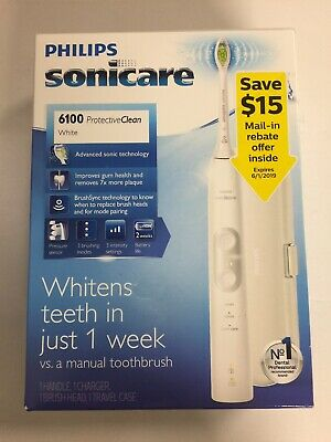 Philips Sonicare 6100 ProtectiveClean Rechargeable Electric Toothbrush HX6877/21