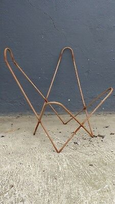 Vintage Childrens Metal Butterfly Chair Frame Solid Rod Australian Made #3