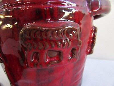 Arie Snel Australian Pottery Canister Embossed Animals Elephant Tiger Bird