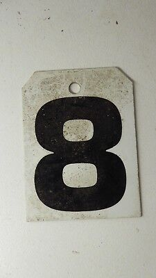 Vintage Metal Sporting Scoreboard Number Ex Sports Club  House Sign Number 8