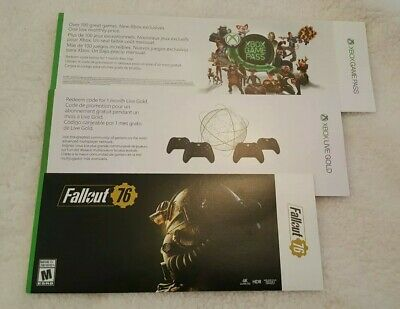 FALLOUT 76 XBOX One Digital Code, 1 Month Game Pass, And 1 Month Live Gold  codes