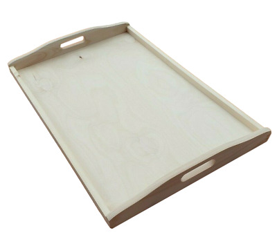 Wooden Serving Very Large Tray 60 cm x 40 cm x 5.5 cm For  Decoupage