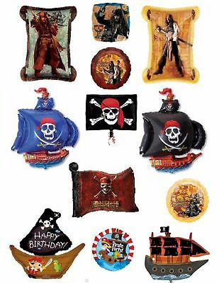 Pirate Balloons Party Ware Decoration Pirates Of The Caribbean Ship Flag Helium