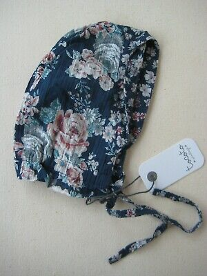 Tocoto Vintage Flowers Baby Bonnet Small 0-6M BNWT