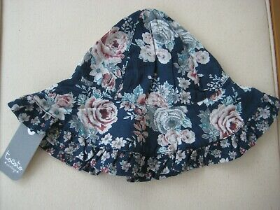 Tocoto Vintage Flowers Baby Hat Small 0-6M BNWT
