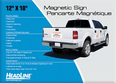 Headline Sign Magnetic Sign Kit with Magnetic Material, Lettering, and Art Tape