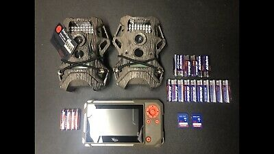Trail Cameras cams lot of 2 Starter Pack Terra, 2 SD cards, Batt, SD Viewer
