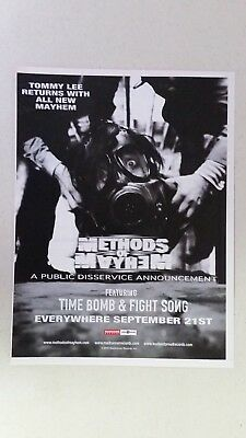 """METHODS OF MAYHEM """"A Public Disservice..."""" Full Page AD magazine clipping"""