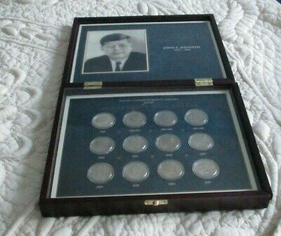 John F. Kennedy Half Dollar Collection in Display Case  12 Coins  UNC