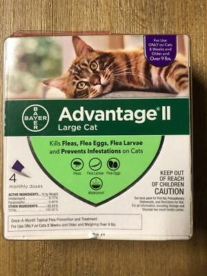 Bayer Advantage II for Large Cats Over 9 Lbs - 4 Pack - Genuine EPA Approved
