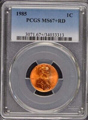 1985 1C Lincoln Cent Reverse Zinc PCGS MS67+RD