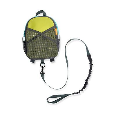 Brica By-My-Side Safety Harness Backpack, Green/Blue