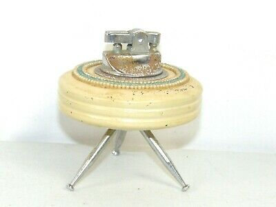 Mid Century Flying Saucer Spaceship Style 3 Legged Tripod Table Lighter
