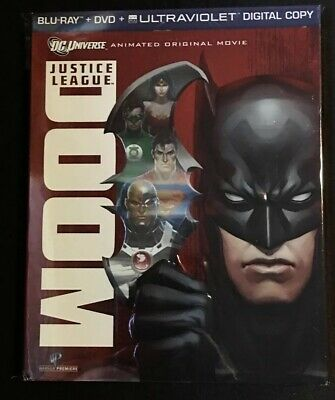 Justice League Doom Blu-ray W/ Slipcover Oop Rare DC