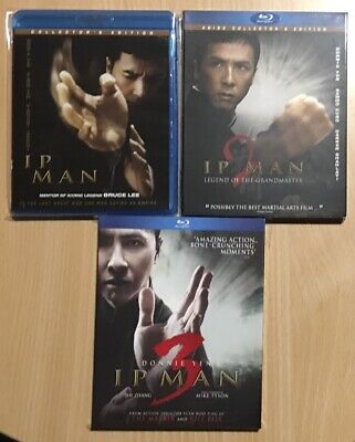 Ip Man Trilogy Bluray Lot Ip Man & Ip Man 2 Collector's Edition, Ip Man 3 (New)