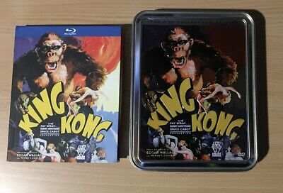 King Kong Digibook Bluray Original & Metal Pack W/ Programme & Postcards No DVD