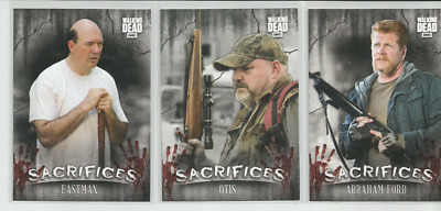 2018 Topps Amc Walking Dead Hunter's & The Hunted:sacrifices-Lot Of Three (3)