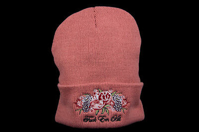 Supreme Centerpiece Beanie Dusty Pink Fw17 F*Ck Em All Roses Cdg Box Logo Hat