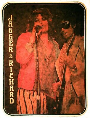 1c61aaabc795 VTG 70s Rolling Stones Mick Jagger Keith Richard Classic Rock ds t-shirt  iron-