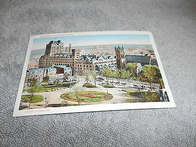 Vintage -- Postcard - Montreal Dominion Square