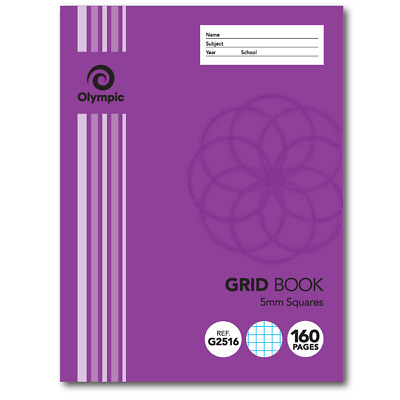 Olympic 5mm Grid Book 225 x 175mm 160 Page 140794
