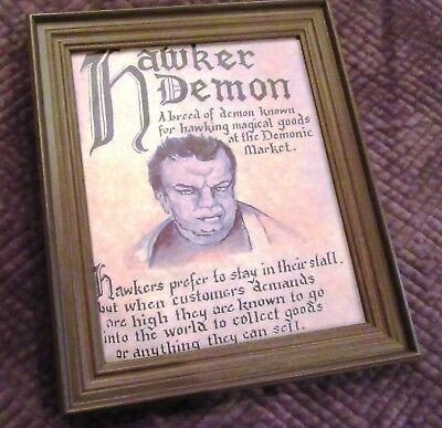 Charmed Book of Shadows Page Artist Rendition Framed 8x10