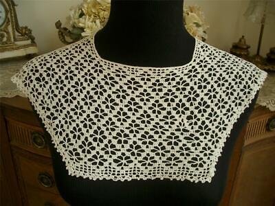 Dainty Handmade Antique Vtg Crochet Lace Collar Dress Front