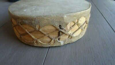 Native American Double Sided Rawhide and Wood Drum