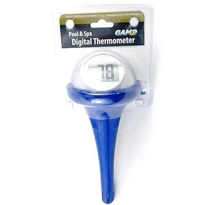 Pool Spa Hot Tub Digital Floating Thermometer Large Readout GAME HTCP14900-6PDQ