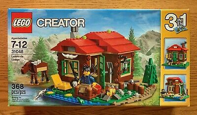 Qty Available. NIB LEGO CREATOR LAKESIDE LODGE #31048 368 PCS MOOSE