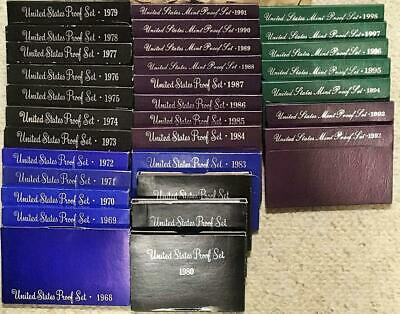 1968 - 1998  Complete Run Of U.s. Mint Proof Sets  #9000