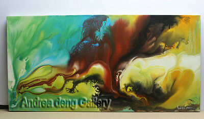 Large Wall Art Modern Abstract Oil Painting on Canvas Contemporary Framed AX020